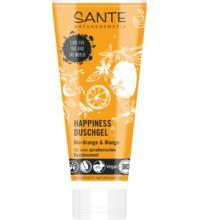 Sante Duschgel Happiness Bio-Orange & Mango, 200 ml Tube