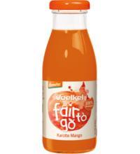 Voelkel fair to go Karotte Mango, 0,25 ltr Flasche