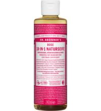 Dr. Bronners Naturseife Rose, 236 ml Flasche