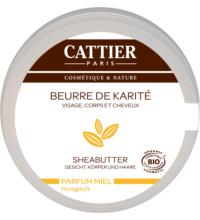 Cattier Sheabutter mit Honigduft, 100 gr Tiegel