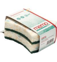 Memo Eco Sponge Spülschwamm aus Recyclingmaterial, 2 St Packung