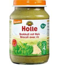 Holle Brokkoli mit Vollkornreis, 190 gr Glas