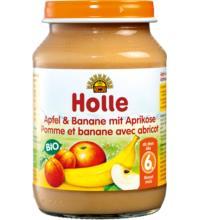 Holle Apfel & Banane, 190 gr Glas
