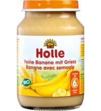 Holle Feine Banane mit Griess, 190 gr Glas