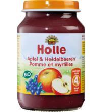 Holle Apfel mit Heidelbeere, 190 gr Glas