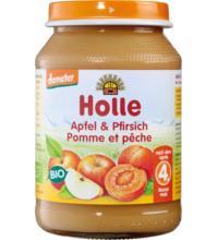Holle Apfel & Pfirsich, 190 gr Glas