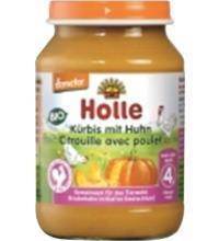 Holle Kürbis mit Huhn, 190 gr Glas