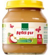 Lebenswert bio Apfel pur, 125 gr Glas