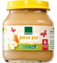 Lebenswert bio Birne pur, 125 gr Glas