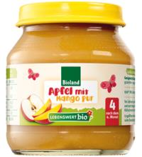 Lebenswert bio Apfel Mango pur, 125 gr Glas