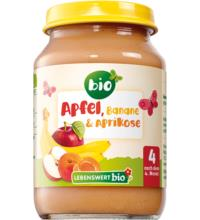Lebenswert bio Apfel, Banane, 190 gr Glas