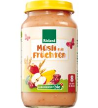 Lebenswert bio Müsli mit Früchten, 220 gr Glas