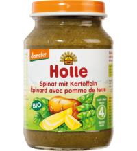 Holle Spinat mit Kartoffeln, 190 gr Glas