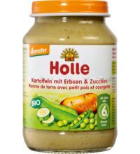 Holle Kartoffeln mit Erbsen & Zucchini, 190 gr Glas