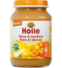 Holle Birne & Aprikose, 190 gr Glas