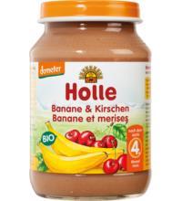 Holle Banane & Kirschen, 190 gr Glas
