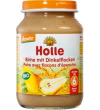 Holle Birne mit Dinkelflocken, 190 gr Glas
