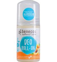 benecos Deo-Roll-On Aprikose & Holunderblüte, 50 ml Flasche