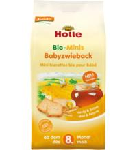 Holle Minis Baby-Zwieback Honig & Butter, 100 gr Packung