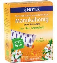 Hoyer Manukahonig Liquid-Sticks, 12 St Packung