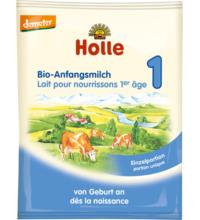 Holle Bio-Anfangsmilch 1, Portionsbeutel, 20 gr Packung