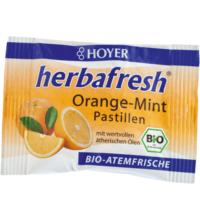 Hoyer herbafresh Orange-Mint, Atemfrisch-Pastillen, 17 gr Packung