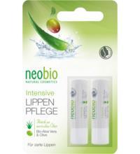 neobio Intensive Lippenpflege Doppelblister, 2x 4,5 gr Stück