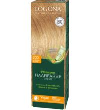 Logona Pflanzenhaarfarbe Color Cream Kupferblond 200, 150 ml Tube