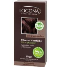 Logona Pflanzenhaarfarbe braun-umbra, 100 gr Packung