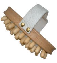 Kostkamm Cellulite-Bürste, Buche, mit Holznoppen, 1 Stück
