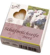 Saling Schafmilchseife Herz in der Faltschachtel, 65 gr Stück