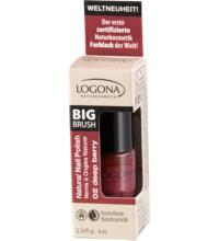 Logona Nail Polish no. 02, deep berry, 4 ml Flasche