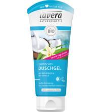 lavera Exotisches Duschgel Kokos & Vanille, 200 ml Tube