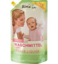 Alma Win Flüssiges Waschmittel im Standbodenbeutel, 1,5 ltr Beutel