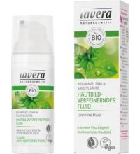 lavera Hautbildverfeinerndes Fluid, Bio-Minze, 50 ml Spender
