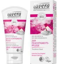 lavera 24h Feuchtigkeitspflege Wildrose, Bio-Wildrose, 50 ml Tube