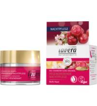 lavera Regenerierende Nachtpflege, Bio-Cranberry & Bio-Arganöl, 50 ml Tiegel