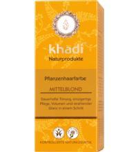 Khadi Pflanzenhaarfarbe Mittelblond, 100 gr Packung