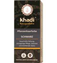 Khadi Pflanzenhaarfarbe Schwarz, 100 gr Packung