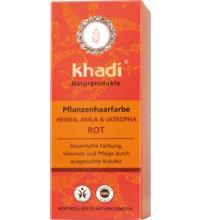 Khadi Pflanzenhaarfarbe Henna, Amla & Jatropha, 100 gr Packung
