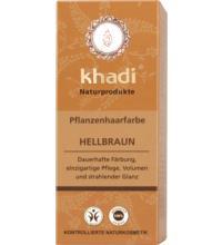 Khadi Pflanzenhaarfarbe Hellbraun, 100 gr Packung