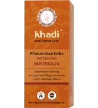 Khadi Pflanzenhaarfarbe Natürliches Nussbraun, 100 gr Packung