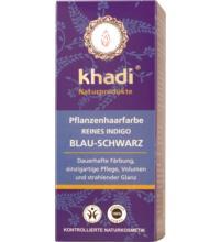 Khadi Pflanzenhaarfarbe Reines Indigo, 100 gr Packung
