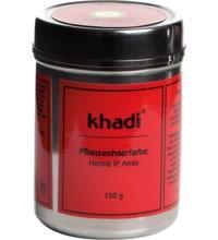 Khadi Pflanzenhaarfarbe Henna & Amla, 150 gr Dose