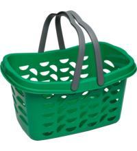Gies GmbH & Co. Kunststoffwerk EcoLine Einkaufskorb, grün, 1 Stück