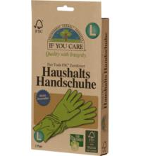 If you care Haushalts-Handschuhe, Größe L, 1 Paar