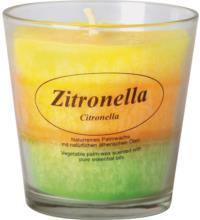 Kerzenfarm Stearinkerze Zitronella im Glas , 1 Stück