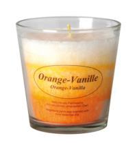 Kerzenfarm Stearinkerze im Glas, Orange-Vanille, 1 Stück