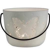 Kerzenfarm Porzellan Teelichteimer Schmetterling, 1 Stück
