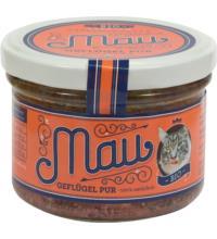 Wuff & Mau Heimtiernahrung Mau Premium Katzennahrung Geflügel Pur, 200 gr Glas